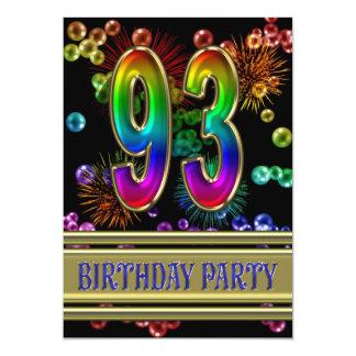 93.o Invitación de la fiesta de cumpleaños con las