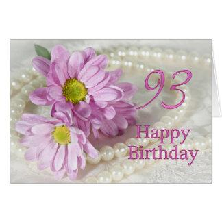 93.o Tarjeta de cumpleaños con las margaritas
