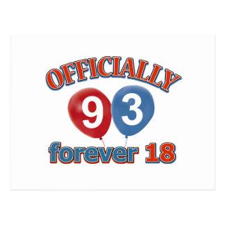 93.os diseños del cumpleaños postal