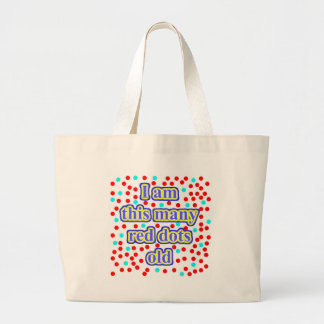 93 Red Dots Old Jumbo Tote Bag