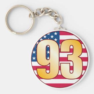 93 USA Gold Basic Round Button Keychain