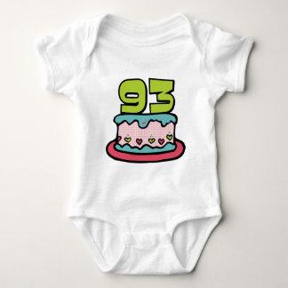 93 Year Old Birthday Cake Baby Bodysuit