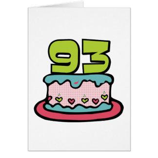 93 Year Old Birthday Cake Card