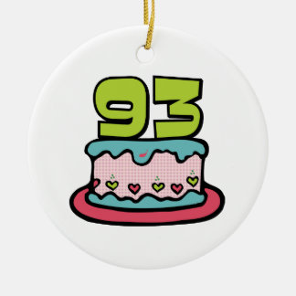 93 Year Old Birthday Cake Ceramic Ornament