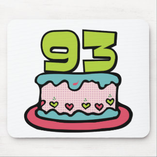 93 Year Old Birthday Cake Mouse Pad