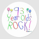 93 Year Olds Rock ! Round Stickers