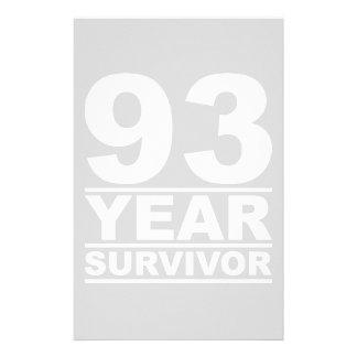 93 year survivor stationery