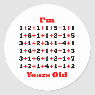 93 Years old Blk Red Classic Round Sticker