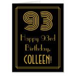 "[ Thumbnail: 93rd Birthday: Art Deco Inspired Look ""93"" + Name Card ]"