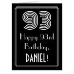 "[ Thumbnail: 93rd Birthday — Art Deco Inspired Look ""93"" + Name Card ]"