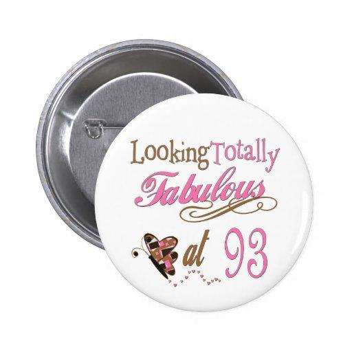 93rd Birthday Pinback Button
