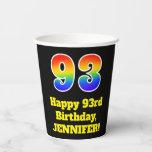 [ Thumbnail: 93rd Birthday: Colorful, Fun, Exciting, Rainbow 93 ]
