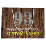 [ Thumbnail: 93rd Birthday: Country Western Inspired Look, Name Gift Bag ]