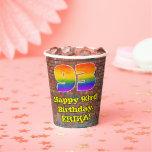 [ Thumbnail: 93rd Birthday: Fun Graffiti-Inspired Rainbow 93 ]