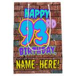 [ Thumbnail: 93rd Birthday: Fun, Urban Graffiti Inspired Look Gift Bag ]