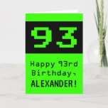 """[ Thumbnail: 93rd Birthday: Nerdy / Geeky Style """"93"""" and Name Card ]"""
