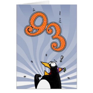 93rd Birthday - Penguin Surprise Card