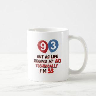 93rd year birthday designs coffee mug