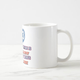 93rd year old snow on the roof birthday designs coffee mug