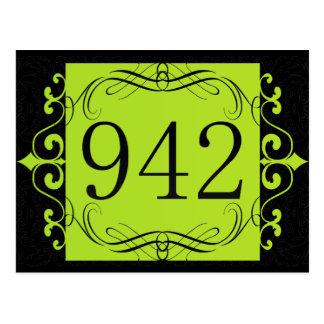 942 Area Code Postcard