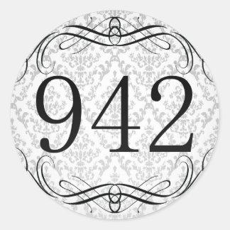 942 Area Code Classic Round Sticker
