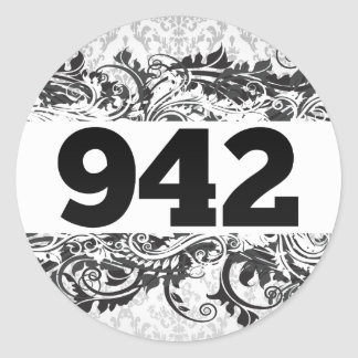 942 PEGATINA REDONDA