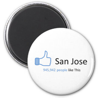945942 people like San Jose 2 Inch Round Magnet