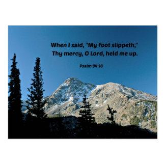 "94:18 del salmo cuando dije, ""mi slippeth del pie"" tarjetas postales"