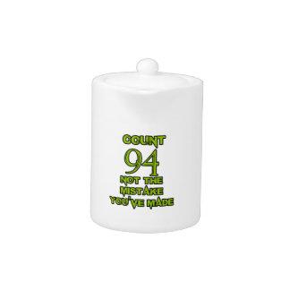 94 birthday design teapot