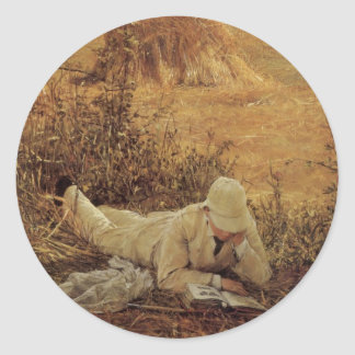 94 Degrees in the Shade, Sir Lawrence Alma Tadema Classic Round Sticker