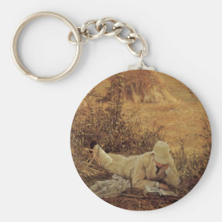 94 Degrees in the Shade, Sir Lawrence Alma Tadema Basic Round Button Keychain