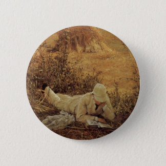 94 Degrees in the Shade, Sir Lawrence Alma Tadema Pinback Button