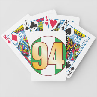 94 NIGERIA Gold Bicycle Playing Cards