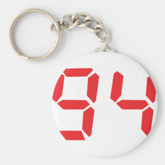 94 noventa y cuatro números digitales del desperta llaveros
