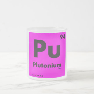 94 Plutonium | Periodic Table of Elements Frosted Glass Coffee Mug