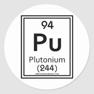 94 Plutonium Round Sticker