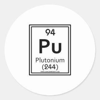 94 Plutonium Round Stickers