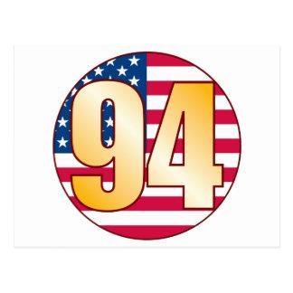 94 USA Gold Postcard