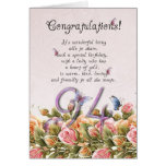 94th birthday card with butterflies and roses