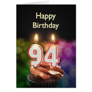 94th Birthday card with Candles