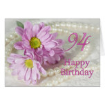 94th Birthday card with daisies