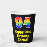 [ Thumbnail: 94th Birthday: Colorful, Fun, Exciting, Rainbow 94 ]