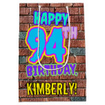 [ Thumbnail: 94th Birthday: Fun, Urban Graffiti Inspired Look Gift Bag ]
