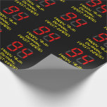 """[ Thumbnail: 94th Birthday: Red Digital Clock Style """"94"""" + Name Wrapping Paper ]"""