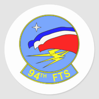 94th FTS Classic Round Sticker