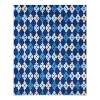 952 BLUE ARGYLE PATTERN CLOTH BACKGROUNDS DIGITAL FLYER