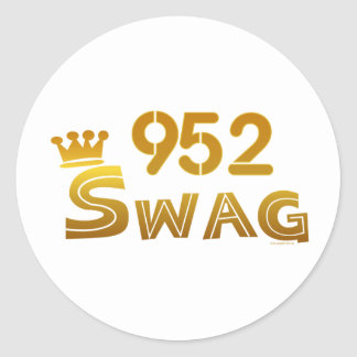 952 Minnesota Swag Classic Round Sticker