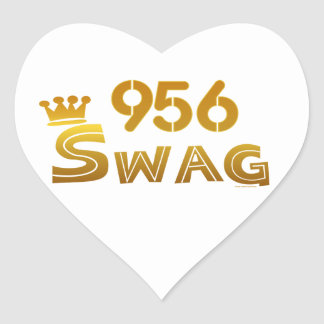 956 Texas Swag Heart Sticker