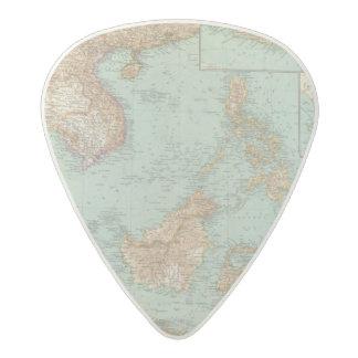 9596 Indocina, Siam, Arcipelago Malese Acetal Guitar Pick
