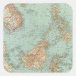 9596 Indocina, Siam, Arcipelago Malese Square Sticker